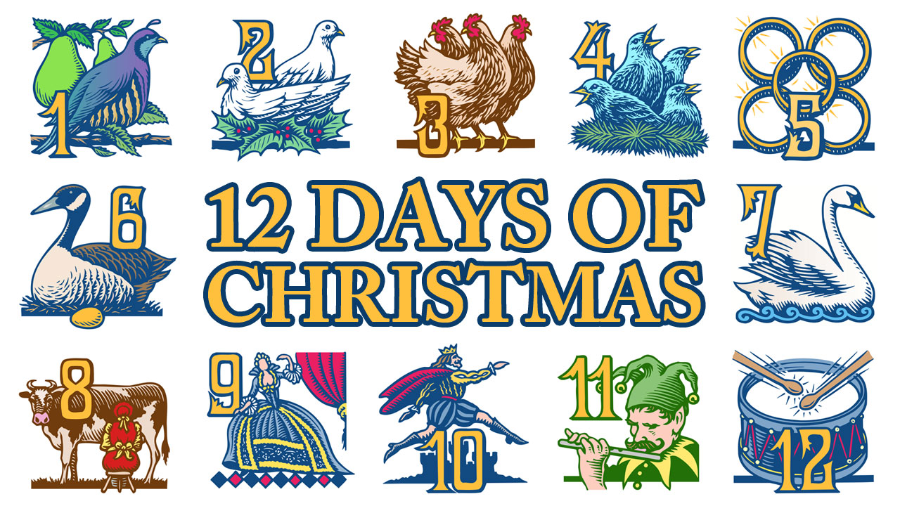 Twelve Days Of Christmas Clipart Group with 19+ items.