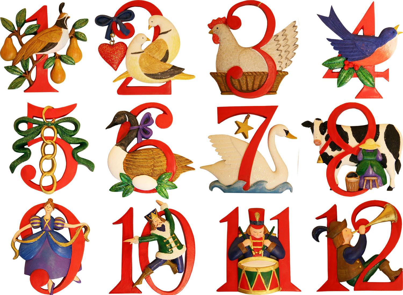 Free Printable 12 Days Of Christmas Clipart.