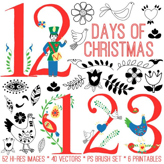 Huge 12 Days of Christmas Kit.