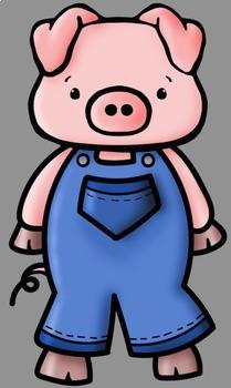Three Little Pigs Clip Art.