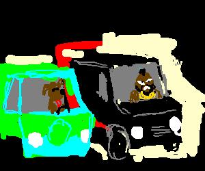 A Team Van Clipart.