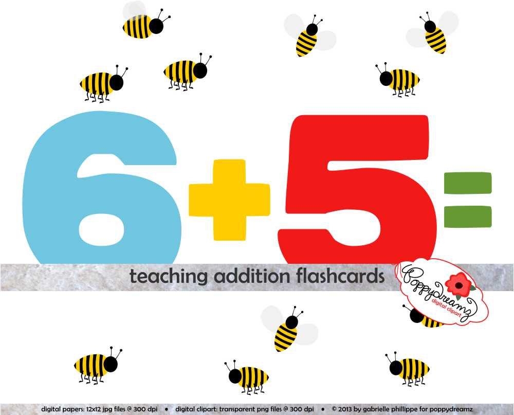Teaching Addition Digital Flashcards School Teacher Clip Art.