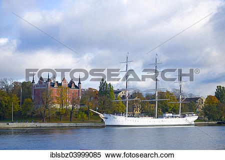 "Stock Image of ""Sailboat Chapman, now used as a hostel, the."