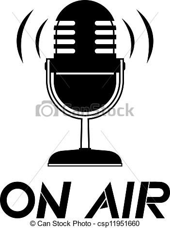 Clip Art Vector of On air.