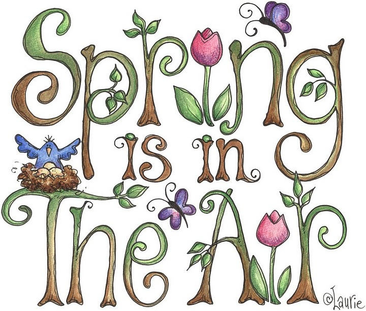 Spring Is In The Air Clipart.