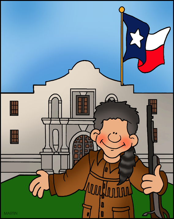 Free United States Clip Art by Phillip Martin, The Alamo.