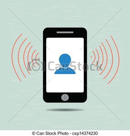 Vectors of Smart phone and alarm clock,vector eps10 csp14374230.