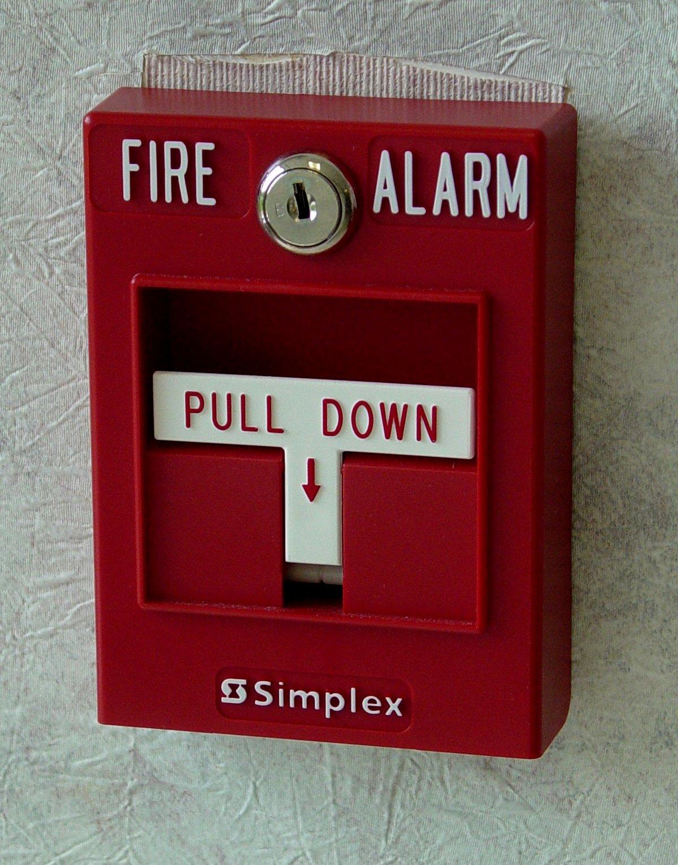 Fire Pull Box Clipart.