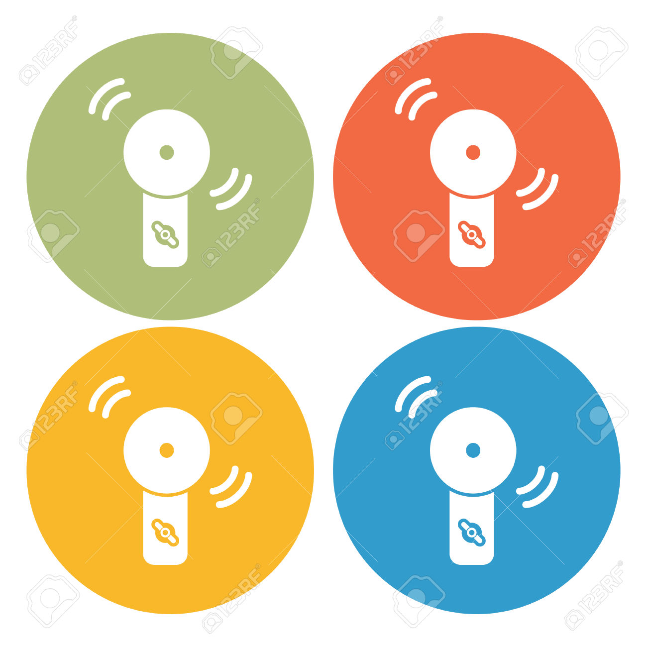 Alarm Device Icon Royalty Free Cliparts, Vectors, And Stock.