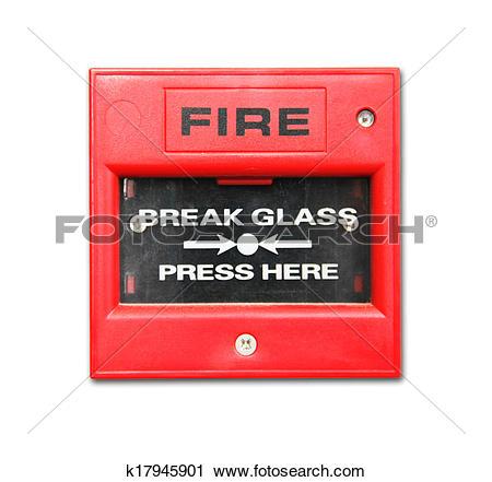 Clipart of fire alarm box k17945901.