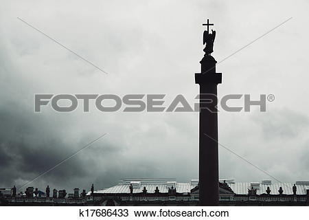 Stock Photo of Alexander Column, is the focal point of Palace.
