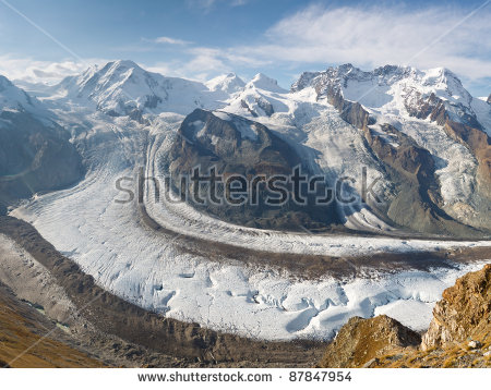 Glacier In Alps Stock Photos, Royalty.