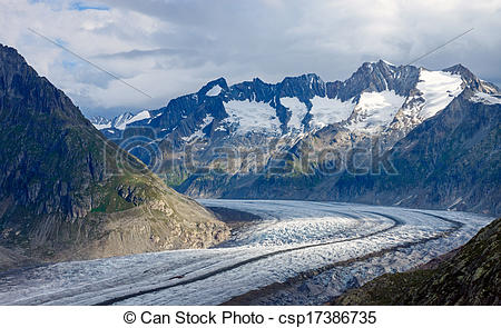 Stock Photos of Cloudy day in the alps.