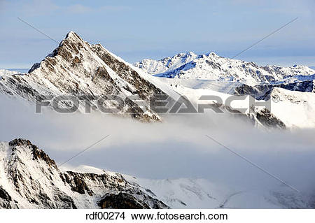Stock Photo of Austria, the Alps, Hintertux, mountains rdf00274.