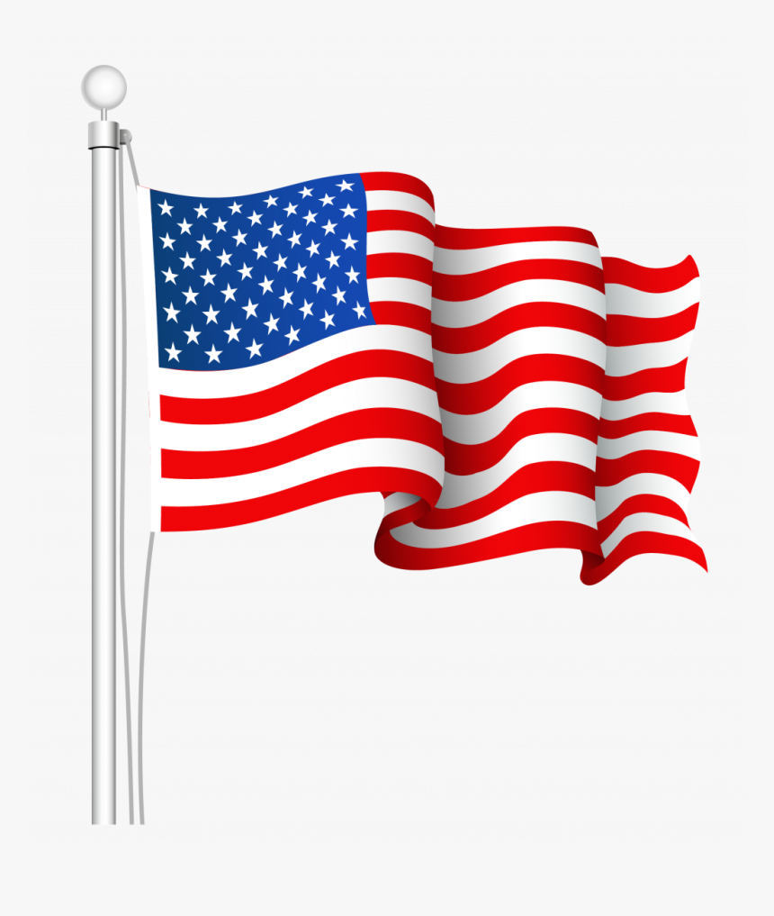 Collection Of Waving American Flag Drawing.
