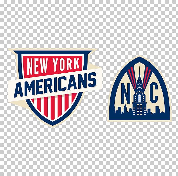 New York City New York Americans Logo Brand National Hockey.