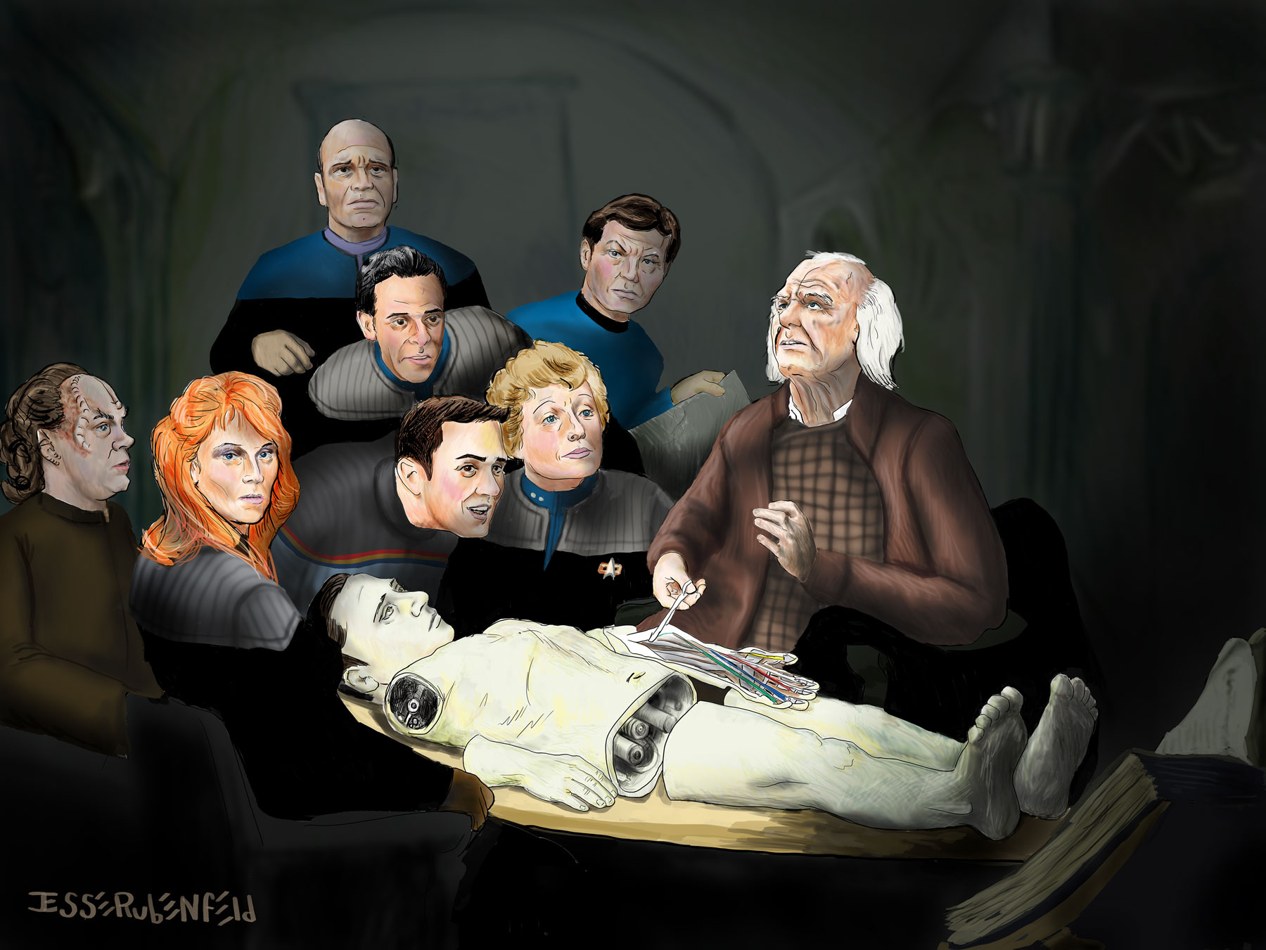 The Anatomy Lesson of Dr. Noonian Soong.
