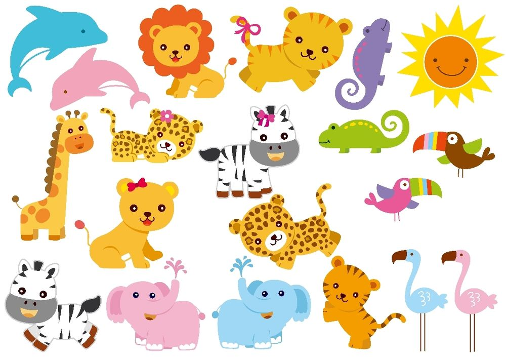 Zoo christmas animals clipart.