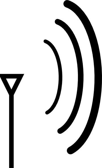 Wireless Directional Antenna clip art Free vector in Open office.