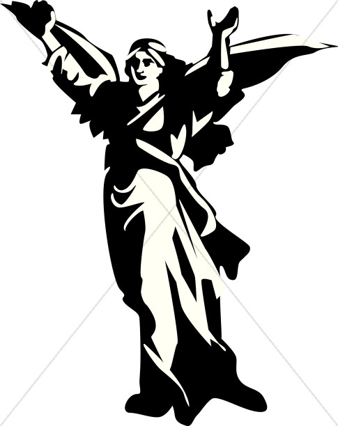 Strong Angel Clipart.