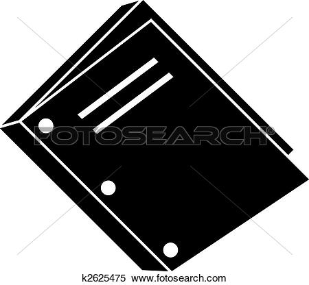 Clipart of three hole punch book binding icon k2625475.