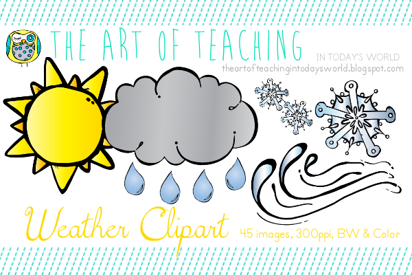 The Art Of Teaching In Today S World Weather Clipart.