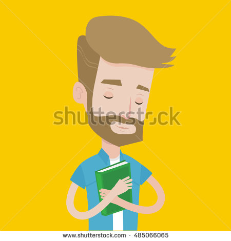 Hugging Book Stock Images, Royalty.