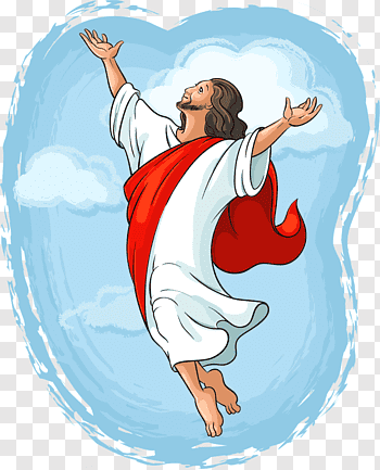 Ascension of Jesus cutout PNG & clipart images.