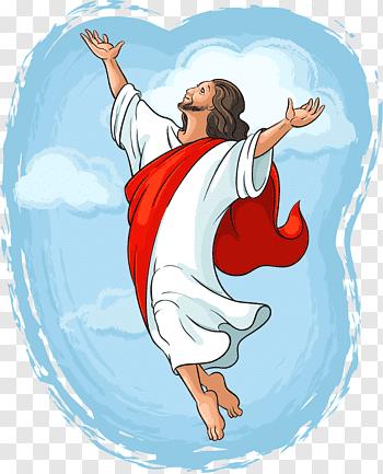 Ascension of Jesus cutout PNG & clipart images.