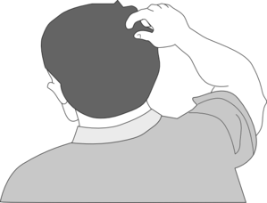Back of head clipart.