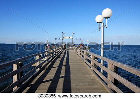 Stock Image of Pier of the Baltic sea spa town of Binz, Rugia.