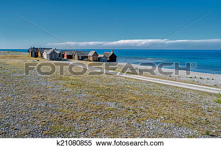 Stock Image of Faro island in the Baltic sea k21080855.