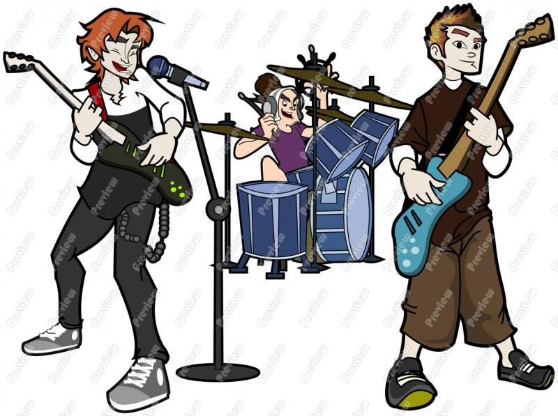Band clip art free download.