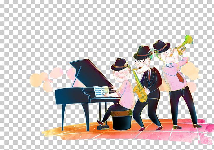 Music Cartoon Poster Illustration PNG, Clipart, Art, Band.