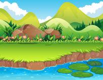 River Bank Fresh Water Stream 4k Stock Illustrations.
