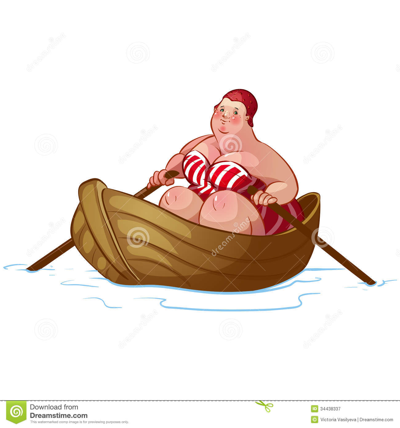 Fat Woman Bikini Cartoon Stock Photos, Images, & Pictures.