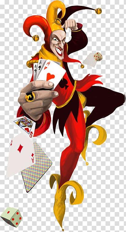 Joker illustration, Joker Playing card Video poker Wild card.