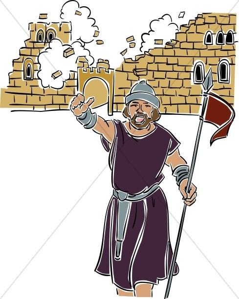 Joshua at the Battle of Jericho.