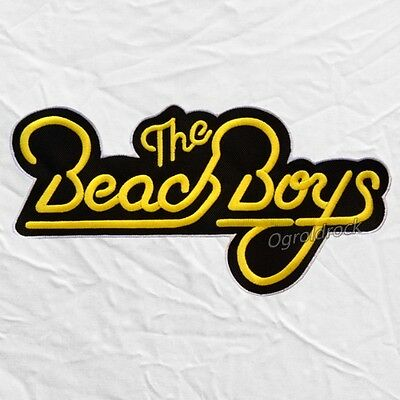 THE BEACH BOYS Logo Embroidered Big Patch Rock Pop Surf.