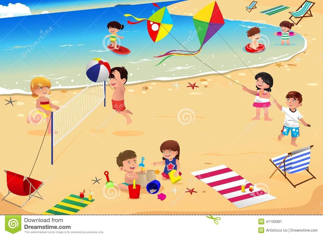 The Beach Clipart & The Beach Clip Art Images.
