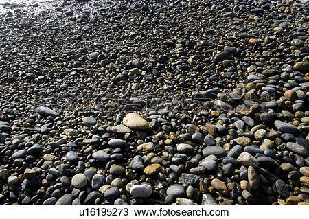 Stock Photo of stone, seaside, natural phenomenon, beach, pebble.