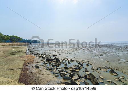 Stock Photographs of Beach stone wall csp18714599.