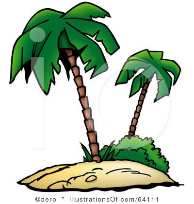Palm Tree Beach Clipart.