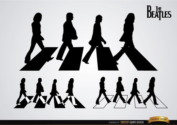 The beatles abbey road clipart.