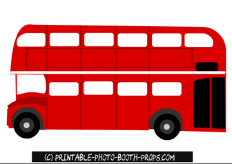 Free Printable London Bus Photo Booth Prop.