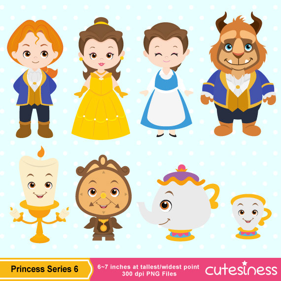 Princess Digital Clipart Princess Clipart Beauty by Cutesiness.