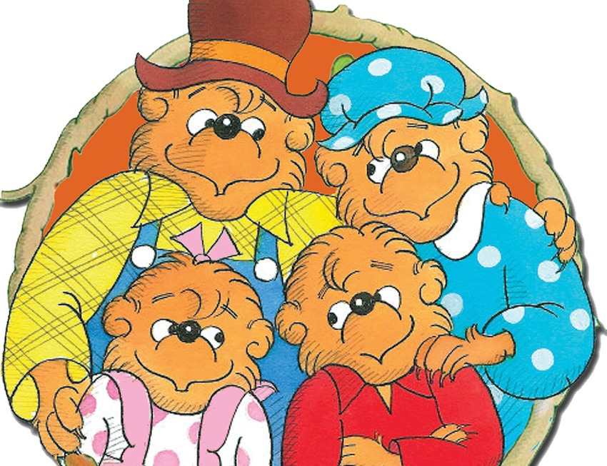 Inside Outside Upside Down. The Story of a Berenstain Bear.