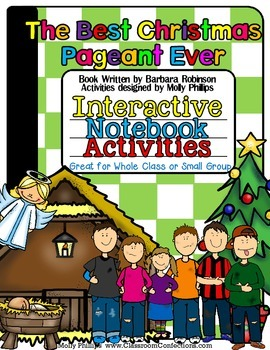 The Best Christmas Pageant Ever Activities for INTERACTIVE NOTEBOOKS.