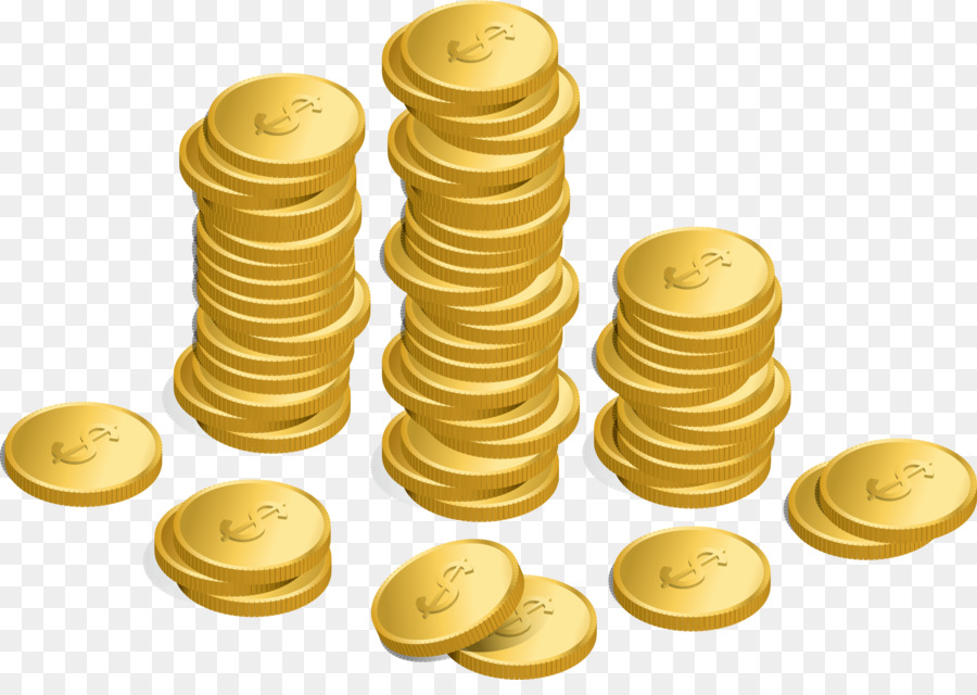 Gold Coin png download.