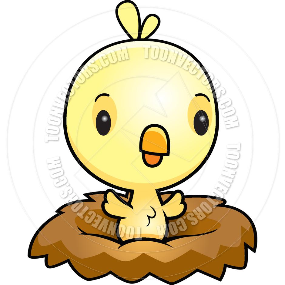 Cartoon Baby Bird Chick Nest, Baby Bird Free Clipart.